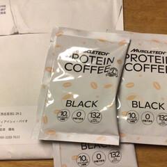プロテインコーヒー | マッスルテック(その他プロテイン)を使ったクチコミ「こんばんは。スイミングから帰宅したら郵便…」