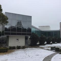 歴史探検/LIMIAおでかけ部/フォロー大歓迎/おでかけ/旅行/風景/... どの位置にいても博物館の建物のガラスに背…