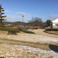 冬景色/残雪/フォロー大歓迎/おでかけ/旅行/風景 秀吉の水攻め、備中高松城跡は、風が、爽や…