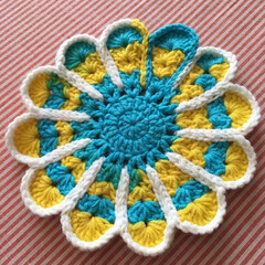 段染め/手編み/かぎ針編み/レース編み/ドイリー/編み物/... このデザイン好き❤︎時々編みたくなる。段…(1枚目)