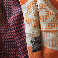 着物を解く/羽織/私ができるSDGs/SDGs/手づくり楽しい!/着物リメイク/... 【着物リメイク】 羽織を解いています。「…(1枚目)