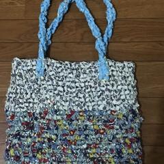 バッグ/裂き布/収納/雑貨/ハンドメイド/おでかけ/... 裂き布編みにチャレンジ‼️ 使用するもの…