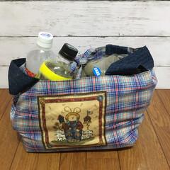 レジ袋有料化/レジ袋/ショッピングバッグ/エコバッグ/手芸/収納/... お弁当用レジ袋型ショッピングバッグに詰め…