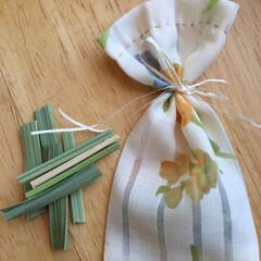 しめ縄/力袋/香り袋/島根県/神が宿る草/まこも 「力袋」と命名して「香り袋」を作りました…