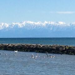 海と山と空