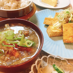 食欲の秋 昨晩の夕食^_^ 昨日は肌寒い朝でした〜…