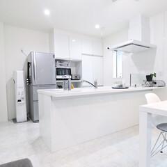 イームズ シェルチェア | スタンザインテリア(パーソナルチェア)を使ったクチコミ「キッチンダイニングは基本ホワイトです。水…」(1枚目)