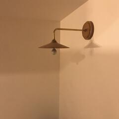 ブラケット照明/ブラケットライト/天然木/天然木家具/家具屋さん/照明/... わがやの1番お気に入りの照明です ブラケ…