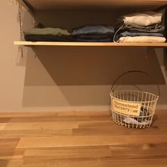 アクシス/Homestead+バスケット+ワイヤーバスケットナーサリー+アイアン+HS1825(洗濯ネット)を使ったクチコミ「わが家の洗濯事情。 下着・パジャマ・タオ…」