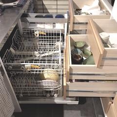 MIELE/ミーレ食洗機/ミーレ/いいねTop10決定戦/キッチン収納/キッチン/... うちのキッチンの1番の働き者、食洗機! …