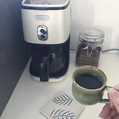 デロンギ/コーヒーメーカー/コーヒー/キッチン雑貨/キッチン/暮らし/... 朝のルーティン 旦那が毎朝必ずコーヒーを…
