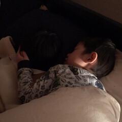 パジャマはH&M/兄弟/次男/おやすみショット 最近引越しの準備が忙しくて 5歳の次男は…