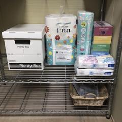 フェローズ 703バンカーズBox A4ファイル用 黒 3枚パック 内箱 5段積重ね可能 対荷重30kg & マガジンファイル208 3枚パック 2(その他キッチン、台所用品)を使ったクチコミ「近くにスーパーや薬局があるので、 家にス…」