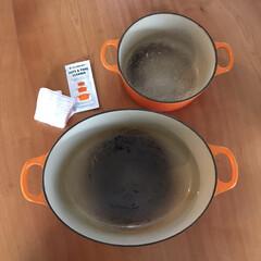 ル・クルーゼ ココット ロンド IH対応 両手鍋 16cm 2501-16 | Le Creuset(両手鍋)を使ったクチコミ「ル・クルーゼの焦げがなかなか落ちなくなっ…」