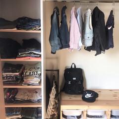 整理収納/洋服収納/クローゼット/収納/GW/わたしのGW 家をリノベーション中なので、借りぐらし中…