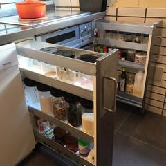 調味料収納/キッチン収納/収納/リフォーム/LIMIAベスト収納2019 わがやの調味料収納 冷蔵庫に入れないやつ…