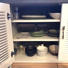 キッチン/金麦/あいあい皿/食器収納/お皿収納/収納/... わが家に新しいお皿が仲間入りしました 金…