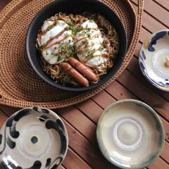 ティファール 鍋 フライパン 9点 セット 着脱式取っ手 蓋 付 インジニオ・ネオ スカーレット セット9 IH対応 L32591 | ティファール(フライパン)を使ったクチコミ「おひるごはーん 日に日に麺率が高くなって…」