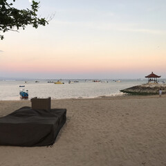 海外旅行/バリ/旅の思い出/trip/風景/旅行/... バリの夕日 空が虹色になってて すごくキ…