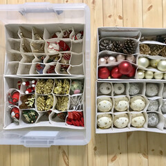 整理ボックス/ニトリ/収納/クリスマス/クリスマスツリー さよならクリスマス🎄 クリスマス小物の収…