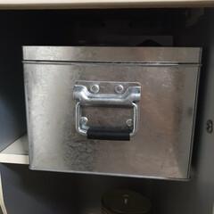 薬収納/薬箱/カップボード収納/お薬収納/収納/キッチン収納/... カップボード収納⑦ 奥行きがある棚には薬…