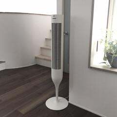 オールドビレッジ バターミルクペイント13-25 Corner Cupboard Yellowish White 200ml(その他塗料、塗装剤)を使ったクチコミ「わが家のリビングの扇風機は縦型です。 タ…」