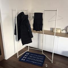 物干しスタンド/コート掛け/コートかけ/住まい/暮らし 昨日はわがやで新年会をしたので 洗濯物干…