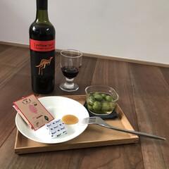 イッタラ プレート ティーマ ホワイト Teema 17cm | イッタラ(皿)を使ったクチコミ「スーパーの安ワインで結構好きなやつ♡ 今…」