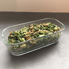 簡単レシピ/副菜レシピ/イワキ保存容器/イワキ/iwaki/お弁当のおかず&便利グッズ/... ▶︎葉物ふりかけ◀︎ 大根の葉っぱとかカ…