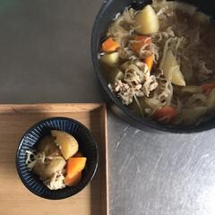 ティファール インジニオ・ネオ マホガニー・プレミア セット9 L63191 | ティファール(鍋、フライパンセット)を使ったクチコミ「料理を始めた頃にお母さんから 『煮物は火…」