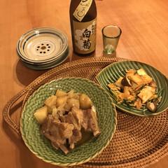 やちむん やちむん與那城 5寸皿 点打 緑×オーグスヤ 16cm 中皿 取皿 プレート(皿)を使ったクチコミ「朝晩が急に涼しくなって、秋を感じます! …」