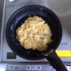 ティファール 鍋 フライパン 9点 セット 着脱式取っ手 蓋 付 インジニオ・ネオ スカーレット セット9 IH対応 L32591 | ティファール(フライパン)を使ったクチコミ「朝ごはんにもお弁当にも🙆♀️ わがやで…」(1枚目)