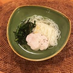 手延べ素麺 揖保乃糸 No50 IT-50(その他スキンケア、フェイスケア)を使ったクチコミ「簡単ランチ🍴 鶏ハムを作ったのですが、 …」