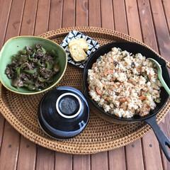 スキレット鍋 15cm(6インチ スキレットナベ) | ニトリ(スキレット)を使ったクチコミ「ニトスキで作るとチャーハンも美味しくなる…」