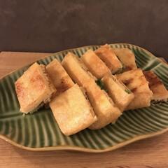 簡単おかず/レシピ/副菜レシピ/副菜/キッチン雑貨/キッチン 薄揚げのネギみそはさみ焼き 薄揚げに薄さ…