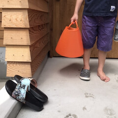 収納ボックス おしゃれ 収納ケース タブトラッグス タブトラックス 大容量 洗濯カゴ 洗濯物入れ ランドリーバスケット(バケツ、ポリバケツ)を使ったクチコミ「突然暑いので 水遊びを兼ねて洗車しました…」