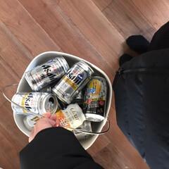 無垢床/ゴミ箱/ごみ箱/缶ゴミ箱/住まい/掃除/... 新年会のお楽しみの山(〃>艸<) わが家…