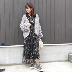 プチプラ/スニーカーコーデ/着回し/コーディネート/ファッション/ジーユー/... 前から撮った写真です♪  ドレッシーなワ…