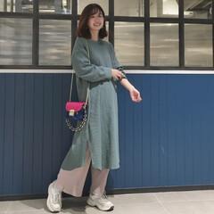 コーディネート/着回し/GU/ファッション/おでかけワンショット ゆるっと楽ちんなGUのリブワイドパンツは…