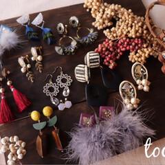 新作考え中/秋冬/ハンドメイドピアス/ハンドメイドイヤリング/tocare_accessories/ootd/... 9月からのイベントのフライヤーなどに載せ…