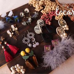 新作考え中/秋冬/ハンドメイドピアス/ハンドメイドイヤリング/tocare_accessories/ootd/... 9月からのイベントのフライヤーなどに載せ…(2枚目)
