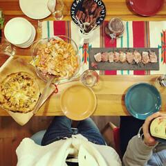 パーティー料理 クリスマス会を通して、妹カップルと親の顔…