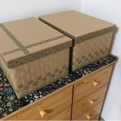 インテリア/DIY/雑貨/100均/ダイソー/家具/... ダンボール箱に工場の梱包用廃材クラフト紙…(1枚目)