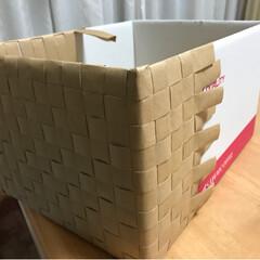 インテリア/DIY/雑貨/100均/ダイソー/家具/... ダンボール箱に工場の梱包用廃材クラフト紙…(2枚目)