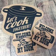 コースター/鍋敷き/キッチン/キッチン雑貨/100均/セリア セリアの鍋敷きとコースター カッコ良かっ…