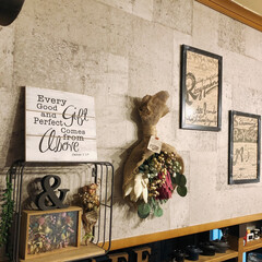 タニサボ/雑貨/R/Fさん作品/クレイフラワー/スワッグのある暮らし/誕プレ 素敵な✨✨✨ 誕プレ🎁❣️頂きました😍 …