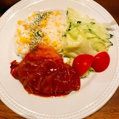 スムージー/ちゃちゃまる🐶はちさん❣️/おうちごはん 今日の夕飯❣️とうもろこし🌽ご飯とポーク…
