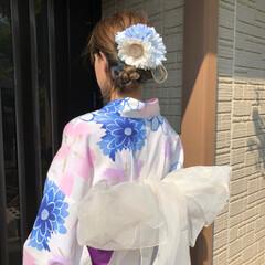 ハンドメイド/髪飾り/浴衣/フォロー大歓迎/LIMIA手作りし隊/夏のお気に入り 夏はヤッパリ浴衣👘ですよね❣️ 毎年着付…