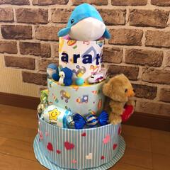 お土産/東京駅/誕プレ/オムツケーキ/おすすめアイテム/フォロー大歓迎/... 息子に頼まれて✨オムツケーキ✨作りました…