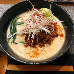 おうち時間/おすすめ坦々麺/おうちごはん 今日の夕飯は❣️  豆乳坦々麺!作りまし…